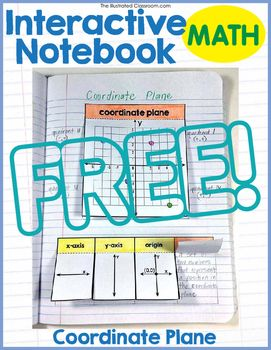 Interactive math notebook foldable graphic organizer for the coordinate plane. Preview, review, teach, or re-teach the coordinate plane, its function, and related terms. Pre-filled-in and blank printable templates are included, along with concise, kid-friendly definitions and step by step instructions for building the foldables.Related ProductsInteractive Math notebook for Sixth Grade Expressions and Equations