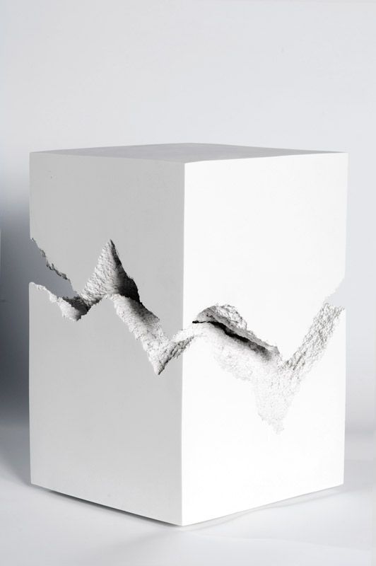 "Snarkitecture Split 2012 Cast marble 18"" x 12"" x 12"" (H x W x D) http://www.snarkitecture.com/objects/split/"