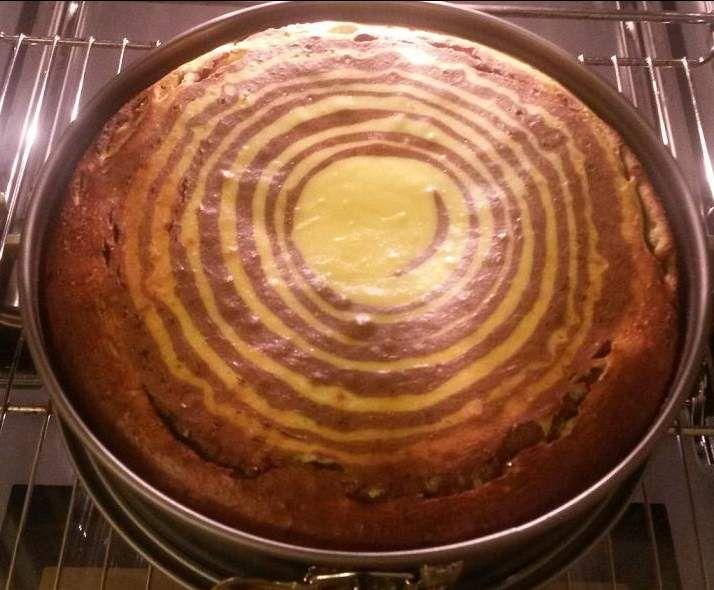 Rezept Zebra-Käsekuchen (ohne Boden) von Sunny171 - Rezept der Kategorie Backen süß