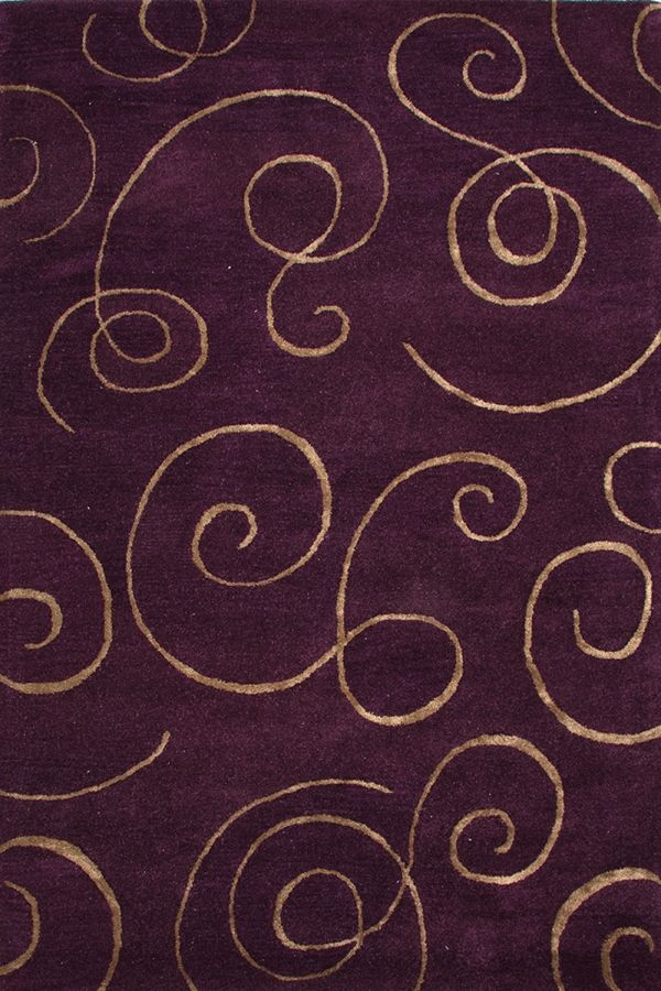 Jaipur Rugs Baroque Vermeer Tulip Purple Area Rugs