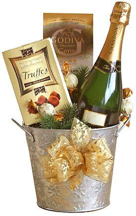 Bucket of Joyful Spirit Champagne Gift