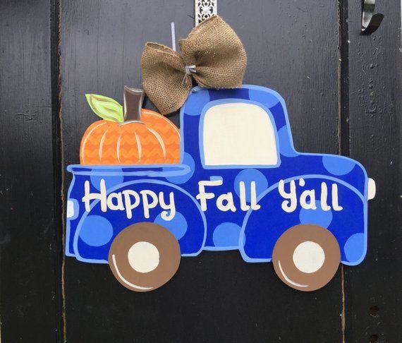 Fall Door Hanger Fall Truck Door Decor Ready To Ship Personalized Door Hanger Custom Door Hanger R H