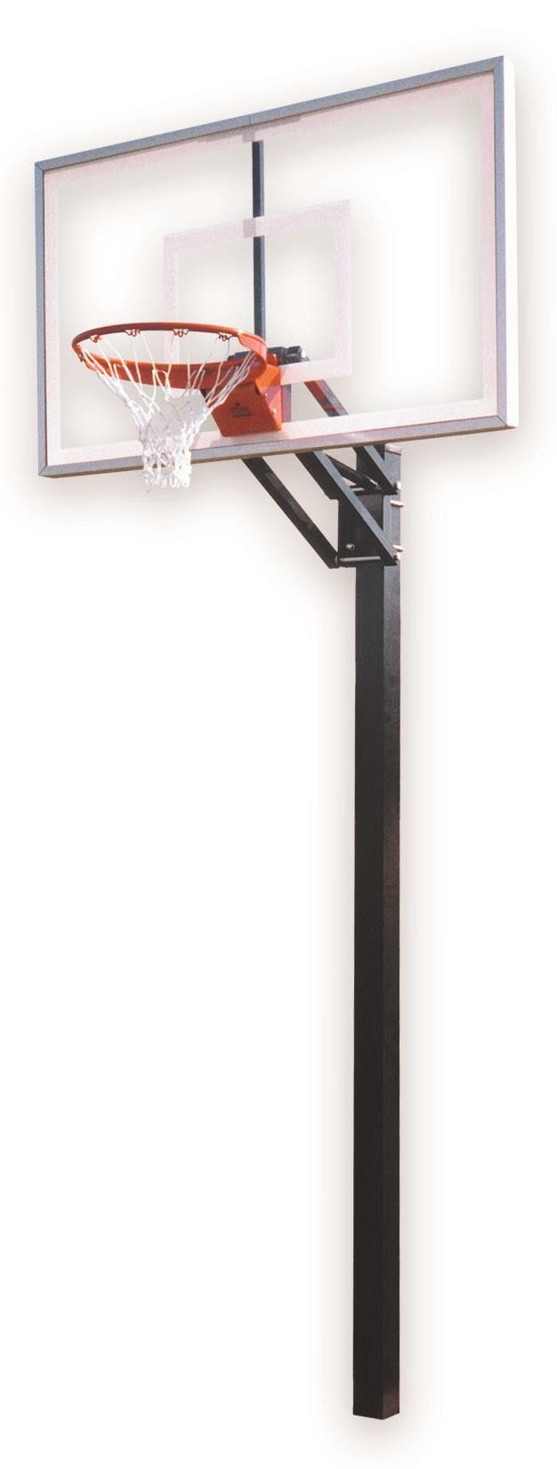 First Team Champ Select In Ground Outdoor Adjustable Basketball Hoop 60 inch Acrylic from NJ Swingsets