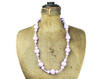 Lunga viola collana di perline collane di perline collana