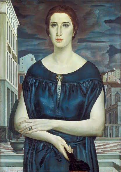 'La giovane sposa' (1922) by Italian painter Ubaldo Oppi (1889-1942). via Weimar