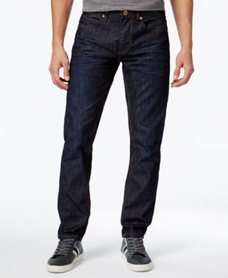 Sean Jean Men's Tiger Embroidered Mercer Slim-Straight Jeans, Only at Macy's - Blue 40