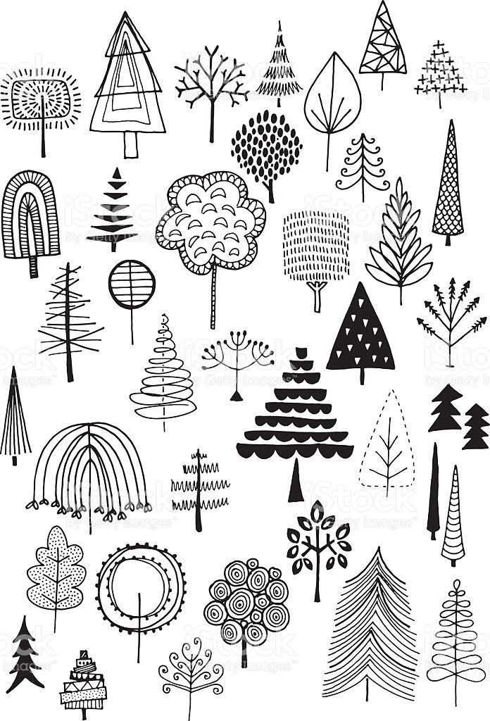 Sarrabisco árvores download vetor e ilustração royalty-free