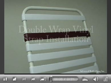vinyl chair repair white cross back chairs pin by care patio furniture on how to install repairs