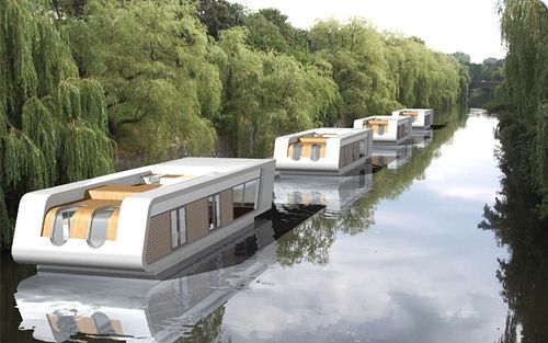 A lovely floating home