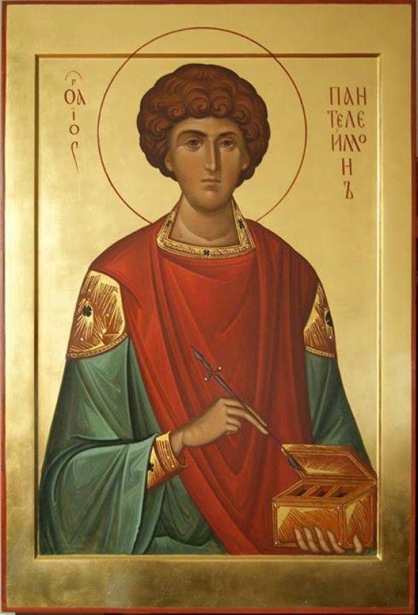 Икона Св Пантелеимона