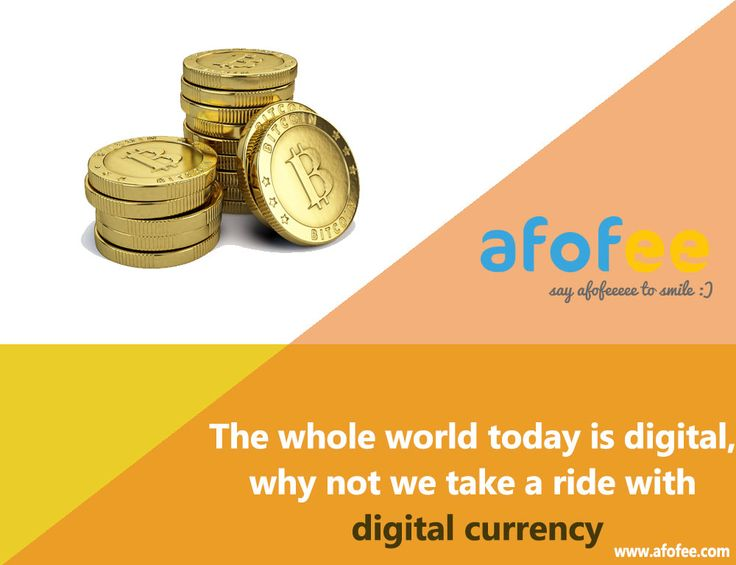 the whole world is today digital, why not we take a ride with digital currency.