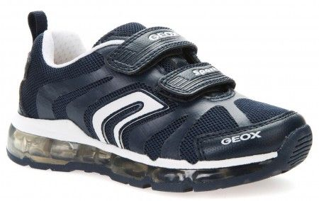 Geox Android Navy White Lights Trainers - Geox Kids Shoes - Little Wanderers