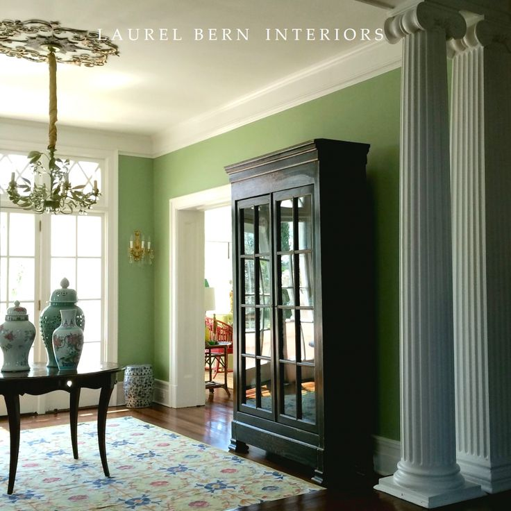 Fabulous shade of green used here by Laurel Bern Interiors.
