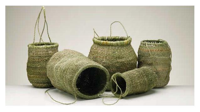 Tasmanian Aboriginal baskets.