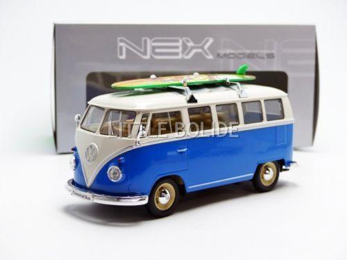 WELLY-1-24-VOLKSWAGEN-Combi-T1-Bus-1962-Avec-Planche-de-Surf-Board-22095SBB