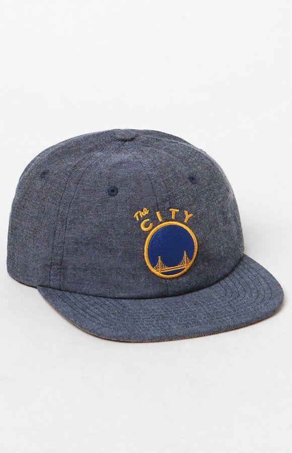 Mitchell & Ness Golden State Warriors Melange Strapback Hat
