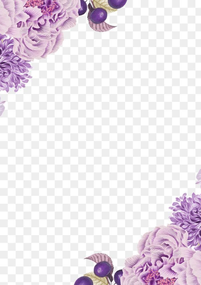 Vintage Purple Floral Frame Design Element Free Image By Rawpixel Com Katie In 2021 Flower Frame Flower Aesthetic Purple Flowers