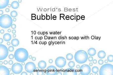 Serving Pink Lemonade: How to Make Giant Bubbles + World's Best Bubble Recipe