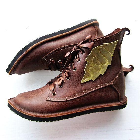 UK 6, stivali di pelle fiaba Woodland, MUSTARDSEED Neverland in caldo rovere 2529