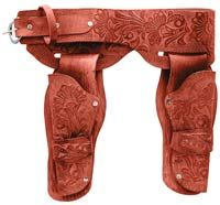 Image of Deluxe Adult Wild West Cowboy Holster Set - Cowboy Costumes