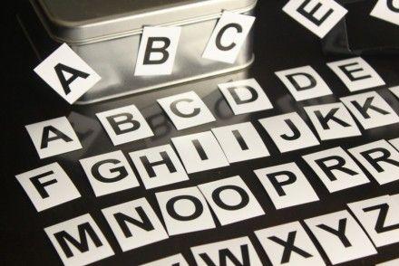 Magnetická abeceda - velká písmena