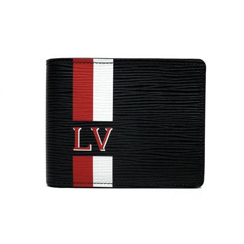 ルイヴィトンエピ 財布 ポルトフォイユ ミュルティプル ストライプ ブラック 黒 二つ折り 札入れ LV ビトン M61586 -ルイヴィトン財布コピー