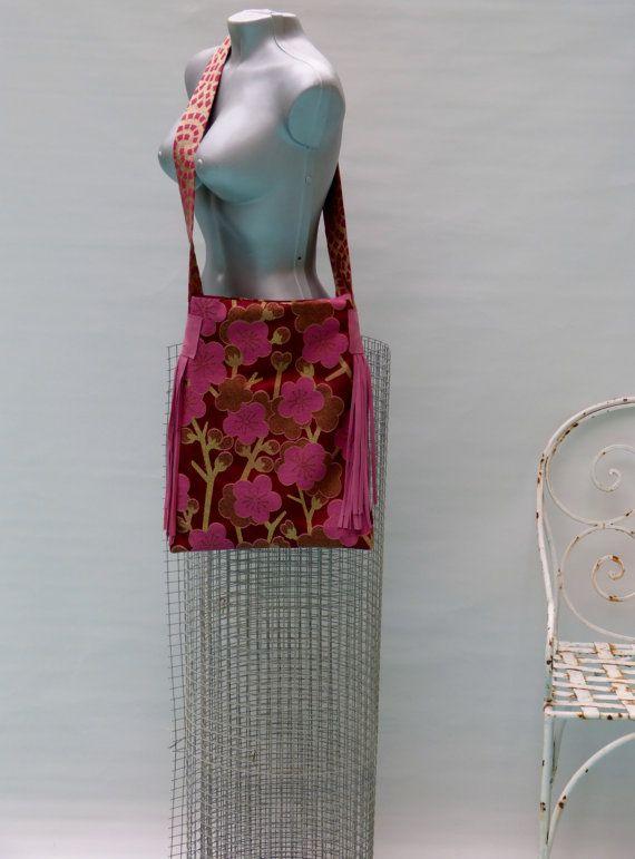 metallic crossbody bag/ bohemian handbag leather by vquadroitaly