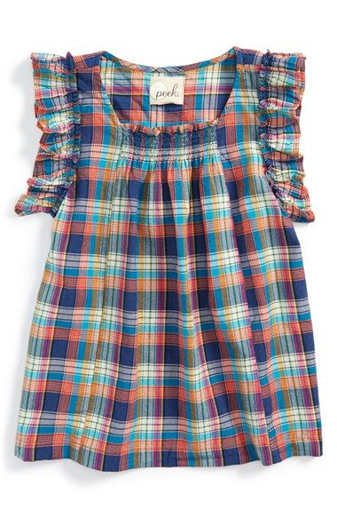 Peek+'Allegra'+Plaid+Tunic+(Toddler+Girls,+Little+Girls+&+Big+Girls)+available+at+#Nordstrom