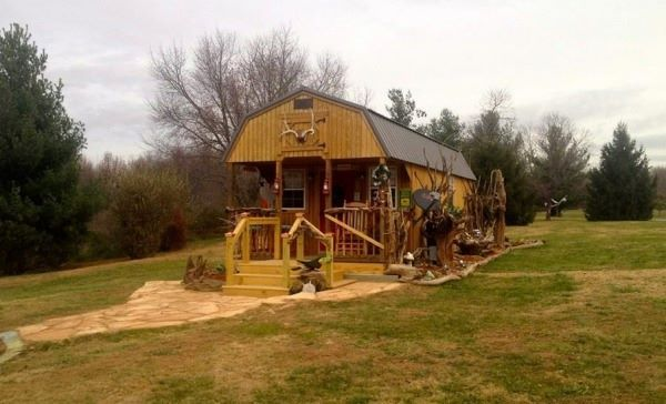 300 Sq Ft Tiny Off Grid Cabin Exterior Barns Ranch