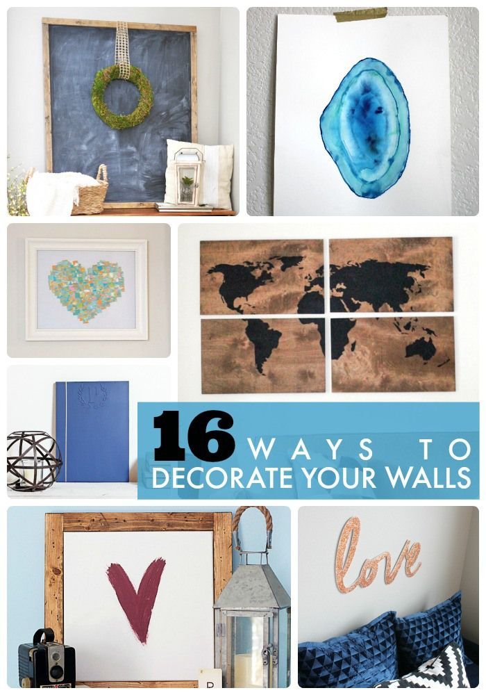 16 ways to decorate your walls
