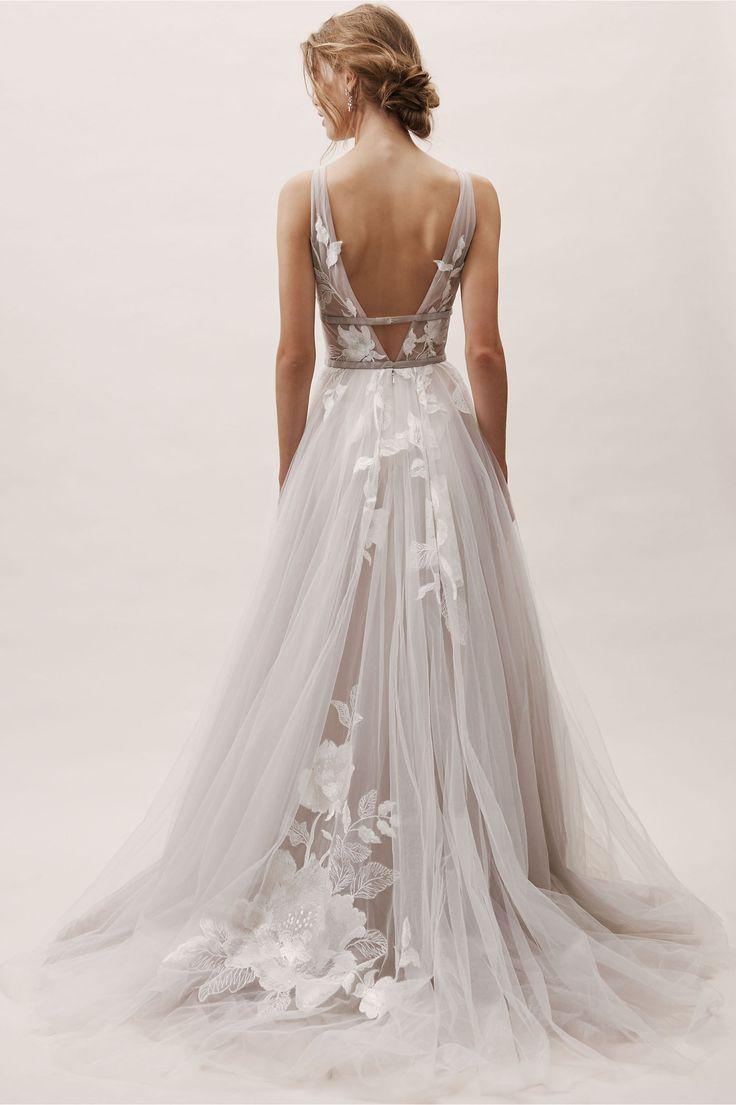 Hearst Gown Silver in Bride | BHLDN