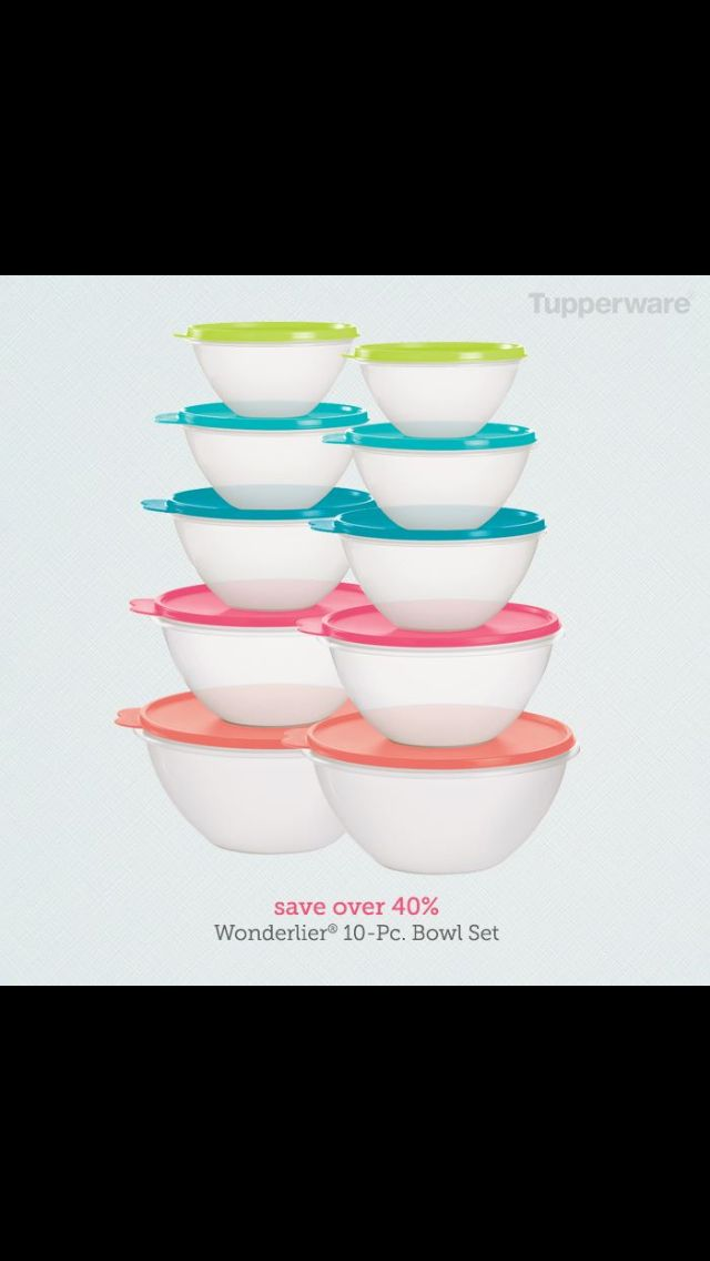 Get your today! Buy 1 set get second free. Through March14th @ www.my2.tupperware.com