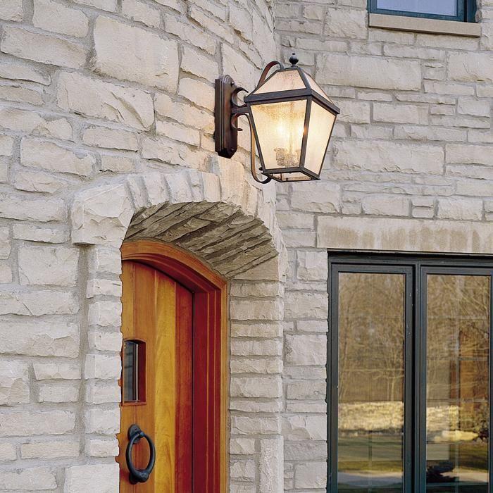 Wide Scrolled Arm Exterior Wall Light, Outdoor Lights Above Front Door