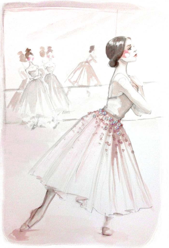 Ballet <3 - Illustration inspired by Gelsey Kirkland.
