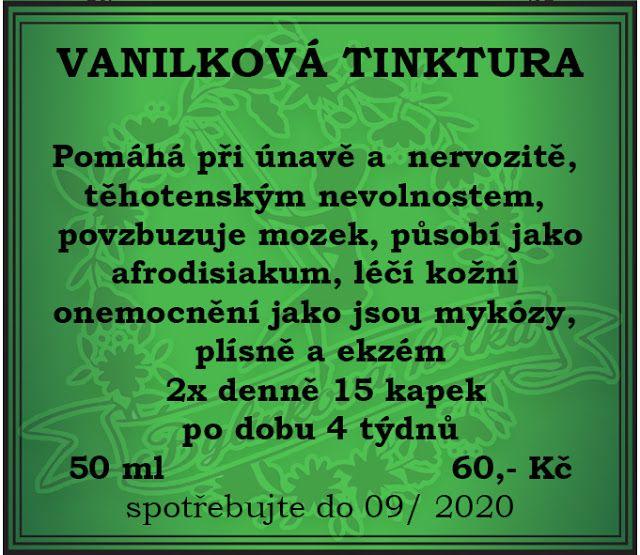 BYLINKOVÁ HOLKA: VANILKOVÁ TINKTURA