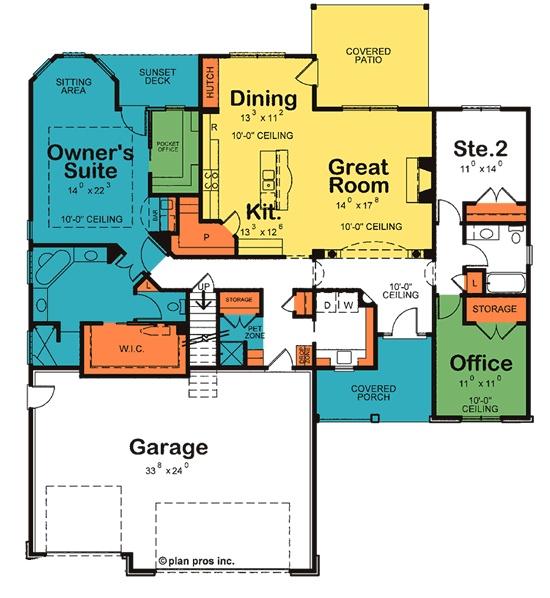 Slater (Owner's Suite & Pocket Office)