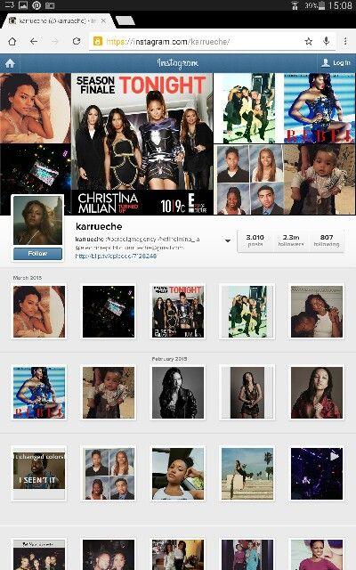 Example of karrueche for river island promotion - her instagram