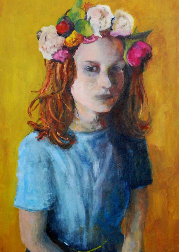Oil painting, - flower head -by dutch artist Angeline Maas #art #painting