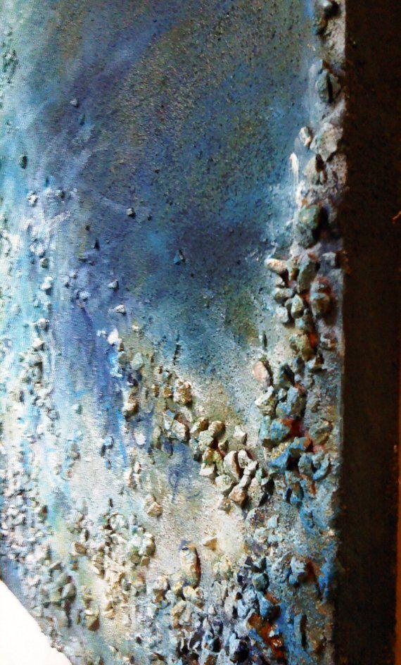 Vista sul mare astratta pittura mare paesaggio astratto