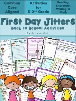 This First Day Jitters activities and graphic organizers packet is great to use, along with the book, on the first and of school. This back to school packet contains various activities to help you teach several of the Common Core Literature standards from day one.