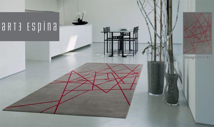 Tappeto Arte Espina grigio e rosso