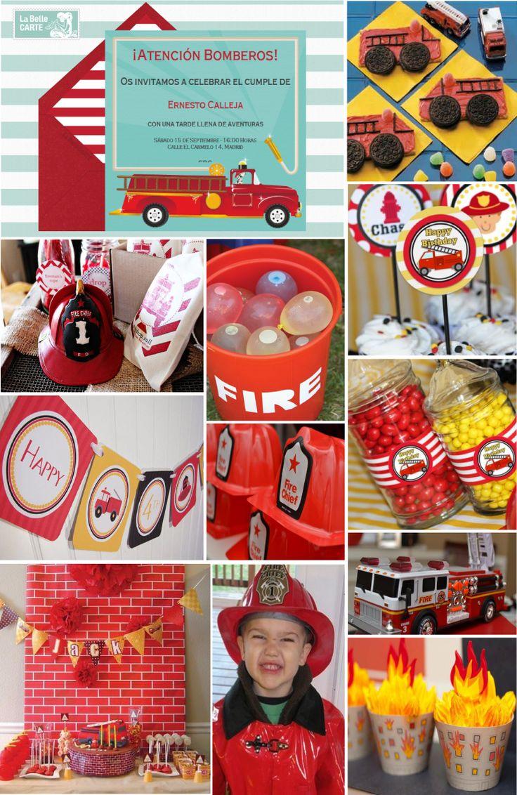 invitaciones infantiles e ideas para celebrar un cumpleaos de bomberos