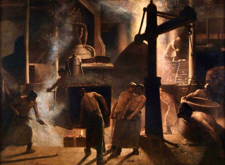 Constantin Meunier, La coulée à Seraing, 1880.