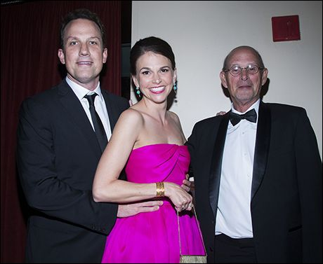 Sutton Foster with Ted Griffin and her father