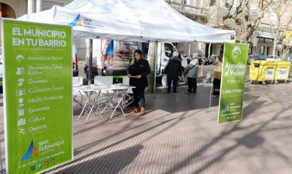 El 'Municipio en tu Barrio' volvió a Plaza Mitre de San Fernando