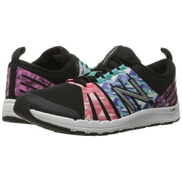 New Balance WX811 (Black/Graphic) Women's Shoes ($75) ❤ liked on Polyvore featuring shoes, athletic shoes, laced up shoes, stretch shoes, grip shoes, kohl shoes and black shoes