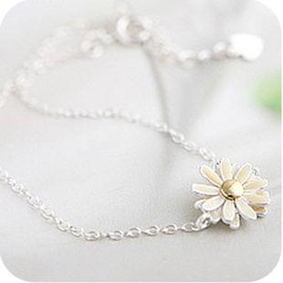 2014 hot Korean jewelry popular lovely yellow daisy flowers Bracelet A2076 € 0,30