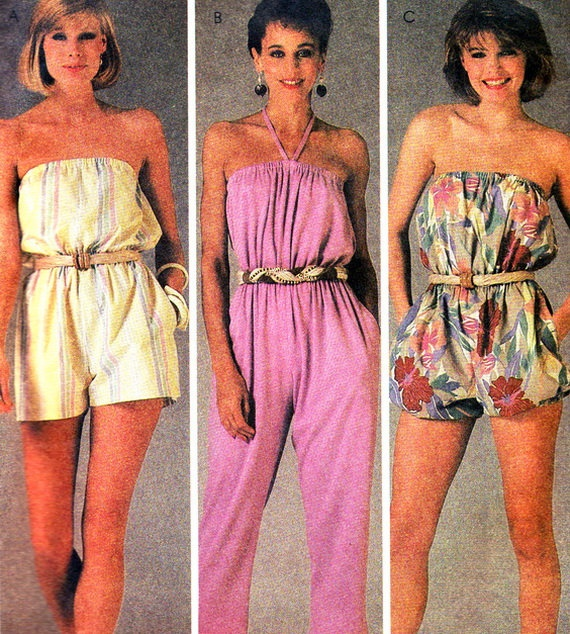 1980s Womens Jumpsuit and Romper Pattern McCalls by paneenjerez, $14.00