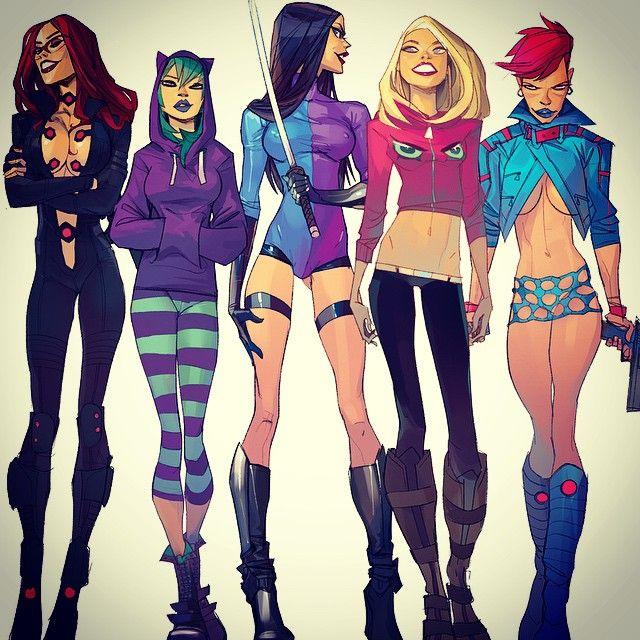"ottoghetto: "" Femmes fatale #mutantchasers #earthoutlaws #Mimik"
