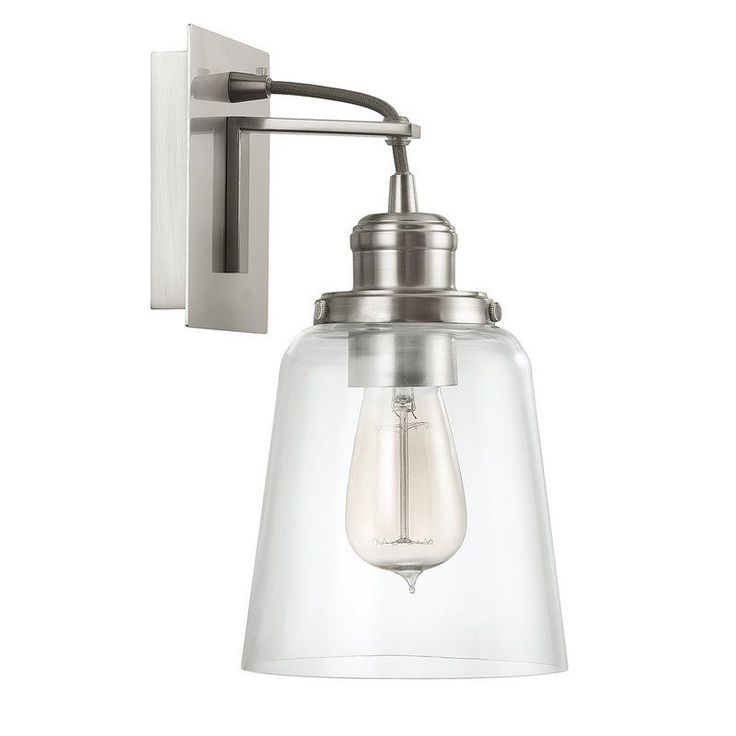View the Capital Lighting 3711 135 Sconce Collection 1 Light Wall Sconce at  Build 70 best apt lighting images on Pinterest   Lighting ideas  . Bathroom 1 Light Sconces. Home Design Ideas